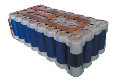 Photo d'un paquet de batterie cylindrique