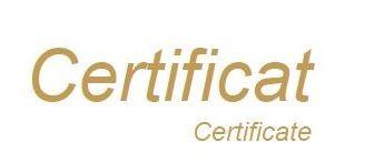 Photo d'une certification 'Certificat'