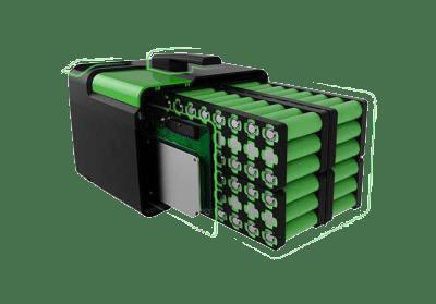 Photos d'un range pack de batterie