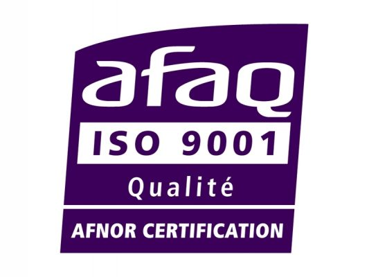 Photo d'une certification afaq iso 9001